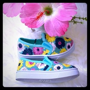 Other - Floral Canvas Slip On For Toddler Size 5